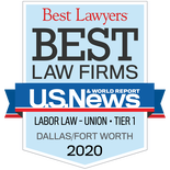 Logo for Tanner & Associates, P.C., Best Law Firms recognition as Tier One in Labor Law, Union, by U.S. News